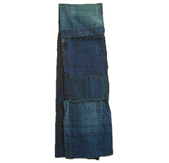 A Long Layered Boro Panel: Thick Hand Spun Indigo Dyed Cotton