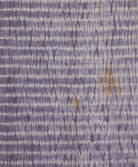 A Long, Narrow Length of Gromwell Root Dyed Shibori: Shikon Mokume