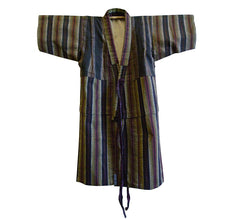 A Child's Pieced Cotton Kimono: Stripe Variants and Lining