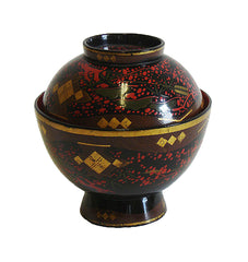 An Elaborately Decorated Lidded Lacquer Bowl #1: Edo Period