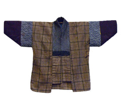 A Pieced Flannel Han Juban: Silk and Cotton