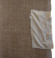 A Very Rustic Undyed Kaya Panel: Patched and Coarse Yarns