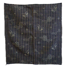 A 19th Century Plaid and Kasuri Furoshiki: Two Patches