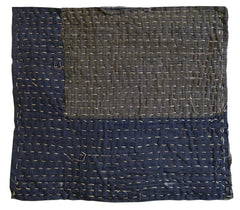 A Large Hemp Stitched Zokin: Boro