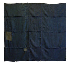 A Pieced Square of 19th Century Katazome Silk: Edo Komon Patches