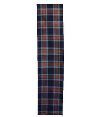 A Richly Colored Plaid Cotton Length: Indigo Dye