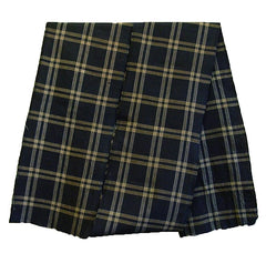 A Long Piece of Hand Loomed Cotton: Black and Yellow Large Plaid