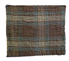 A Large Plaid Zokin: Interesting Stitches