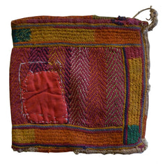A Small Banjara Pouch: Indian Hand Stitching