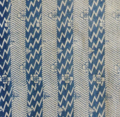 A Katazome Cotton Length: Imagistic Stripes