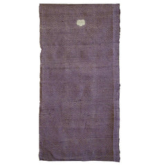 A Length of Edo Komon Cloth: Purple Colored and Family Crest