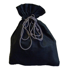A Black Cotton Drawstring Pouch: Classic Money Bag Shape