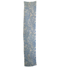 A Beautiful Length of Pale Blue-on-White Hemp or Ramie Cloth: Katazome