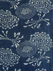 A Length of Katazome Dyed Cotton: Chrysanthemums and Noshi