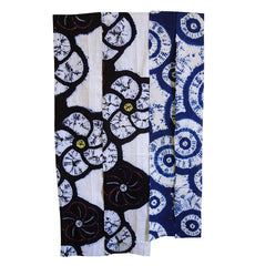 A Group of Four Narrow Shibori Fragments: Playful Patterns