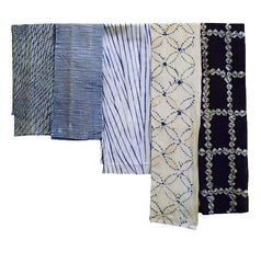 Five Shibori Pieces: Narrow Lengths