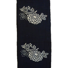 A Length of Katazome Dyed Cotton: Four-and-a-Half Flower Clusters