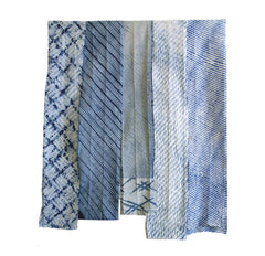 A Group of Five Shibori Collar Fragments