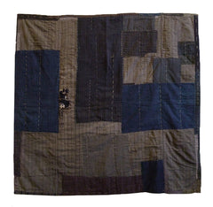 A Large, Layered, Boro Coverlet: Heavily Patched