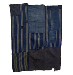 A Tattered Three Panel Boro Futon Cover: Good Age and Hand Spun Cotton