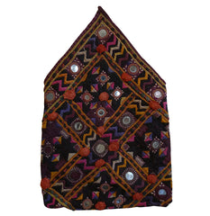 A Shimmering Hand Embroidered Indian Pouch: Rajasthani Mirror Work
