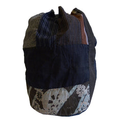 A Large, Beautifully Pieced Cotton Bag: Drawstring