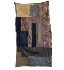 A Beautiful Mid-Century Boro Textile: Colors and Eccentric Stitching