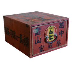 A Red Drawered Small Box: Kanji and Images