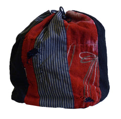 A Piece Constructed Drawstring Bag: Flannel Segments
