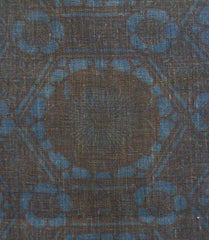 A Stenciled Length of 19th Century Cotton: Indigo and Bengara