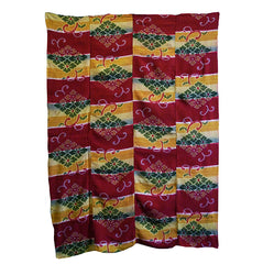 A Four Panel Brightly Colored Kasuri Cloth: Mid 20th Century