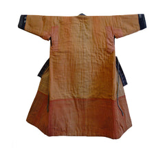 A Child's Padded Kimono: Beautiful Orange Colored Boro Cotton Lining