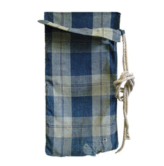 A Reversible Hemp Lined Cotton Boro Bag: Antique
