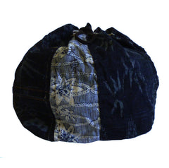 An Indigo Dyed Komebukuro: Wonderful Cotton Fragments