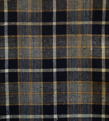 A Beautifully Complex Length of 19th Century Plaid: Hand Spun Cotton