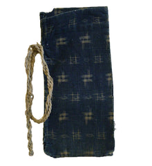 An Old Cotton Kasuri Money Pouch: Roll