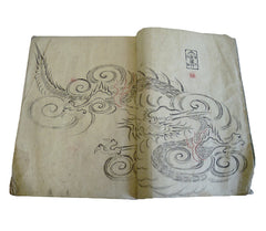 A 19th Century Book of Ink Drawings: Ornate Roof Tile Designs
