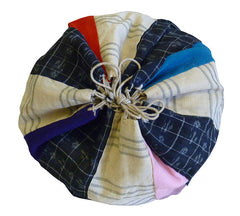 A Very Good Piece-Constructed Drawstring Bag: Hemp and Silk