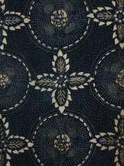 A Beautiful and Very Long Panel of Indigo Dyed Katazome: Cotton