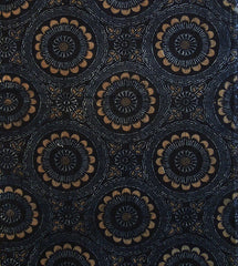 A Length of 19th Century Katazome Cotton: Fancy Roundels