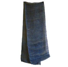 A Length of Rustic Hemp Kaya: Indigo Dyed Mosquito Netting