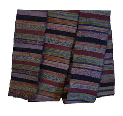 A Beautifully Colored Sakiori Obi: Rag Woven Sash