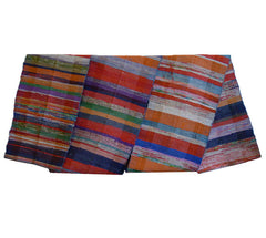 A Wide and Long Multi-Colored Sakiori Obi: Small Snag