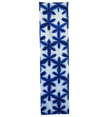 A Length of Sekka Shibori: Deep Blue Indigo Snow Flowers