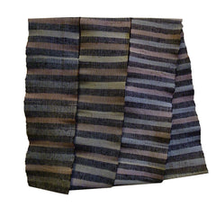 A Narrow Sakiori Obi: Muted Striped Tones