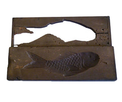 A Carved Wooden Kashigata: Traditional Sweets Mold