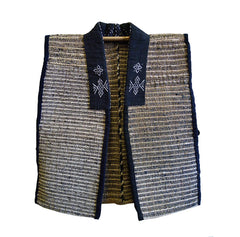 A Child's Sakiori Vest: Lavish Semamori Embellishment and Hemp Warp