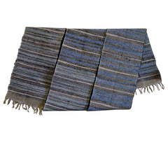 A Wide Sakiori Obi: Beautiful Shades of Rag Woven Indigo Cotton