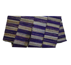 A Rustic and Beautiful Sakiori Obi: Purples