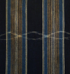 A Length of Striped Cotton with Kasuri Passages: 19th Century